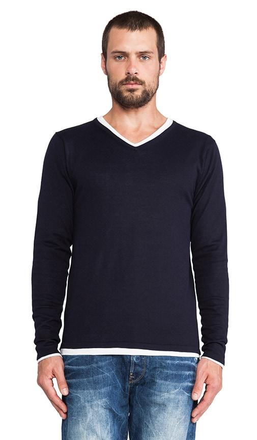 Classic V-Neck Pullover w/ Inner Tee