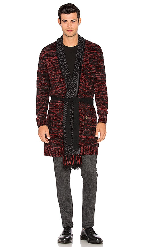 Cardigan with Shawl Collar and Fringes