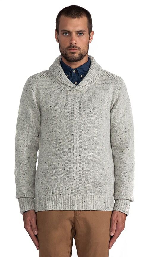 Intarsia Pullover w/ Shawl Collar