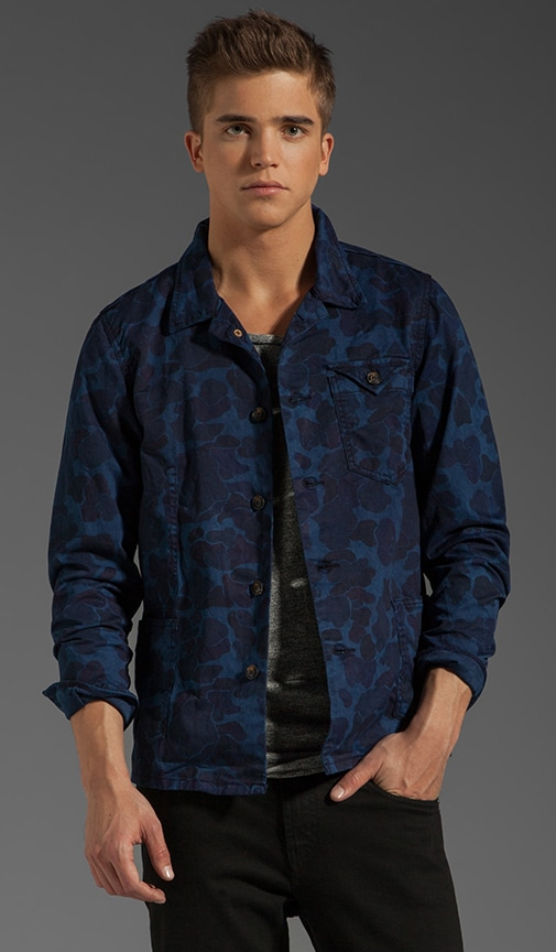 Laser Print Camo Railroad Jacket