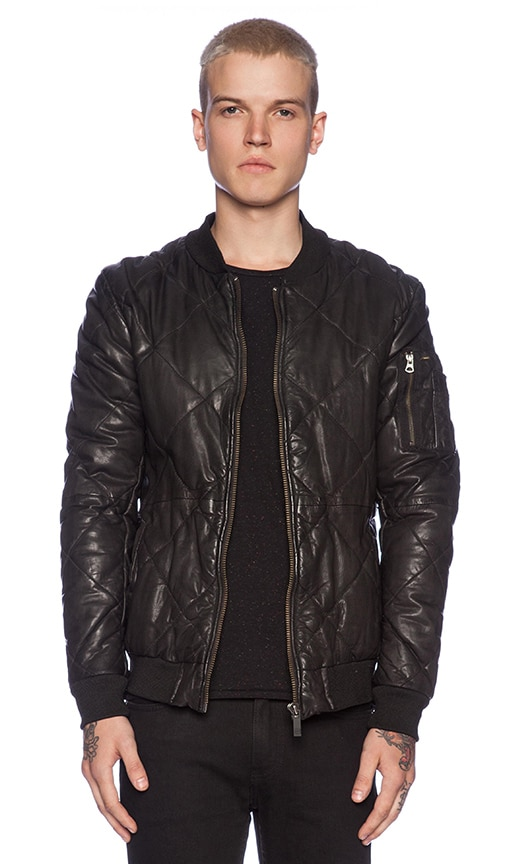 Scotch & Soda Quilted Leather Bomber Jacket in Black | REVOLVE : scotch and soda quilted leather jacket - Adamdwight.com