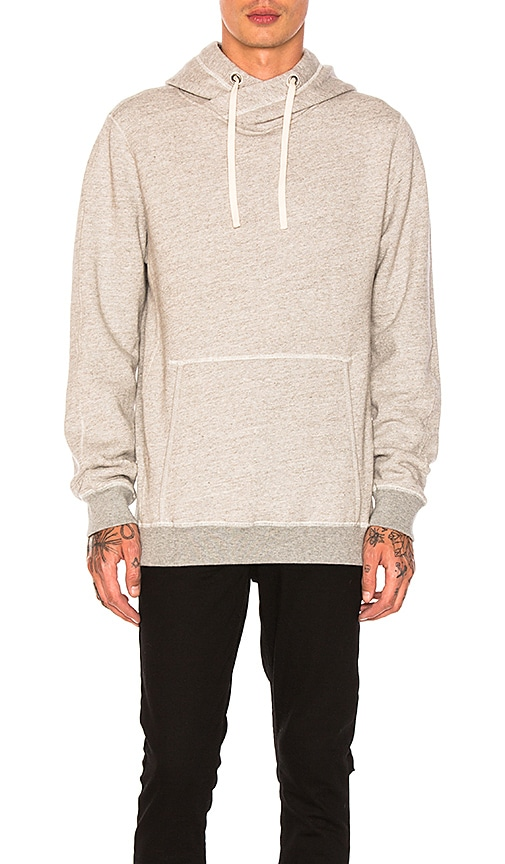 Scotch & Soda Home Alone Twisted Hoodie in Grey Malange in Gray