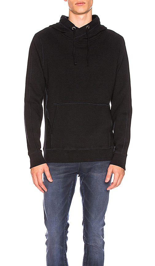 Scotch & Soda Home Alone Twisted Hoody in Navy