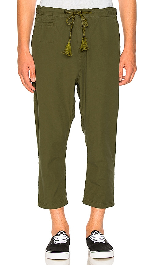 Scotch & Soda Loose 3/4 Length Pants in Green