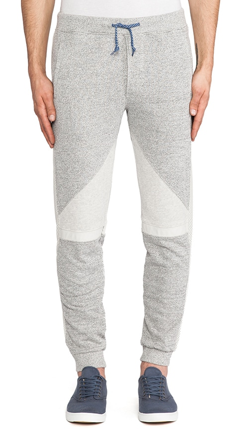 Batik Surf Sweatpant w/ Leather Details