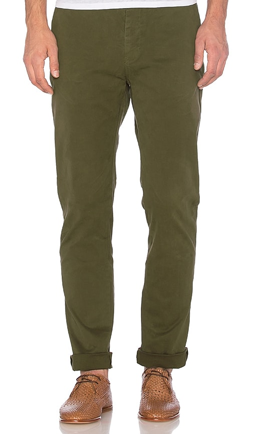 Scotch & Soda Slim Fit Chino Pant in Rifle Green