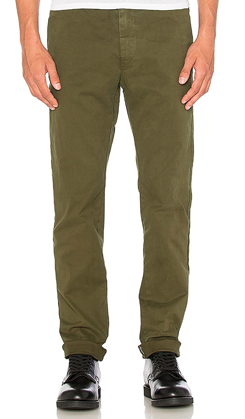 Scotch & Soda Garment Dyed Chino in Army