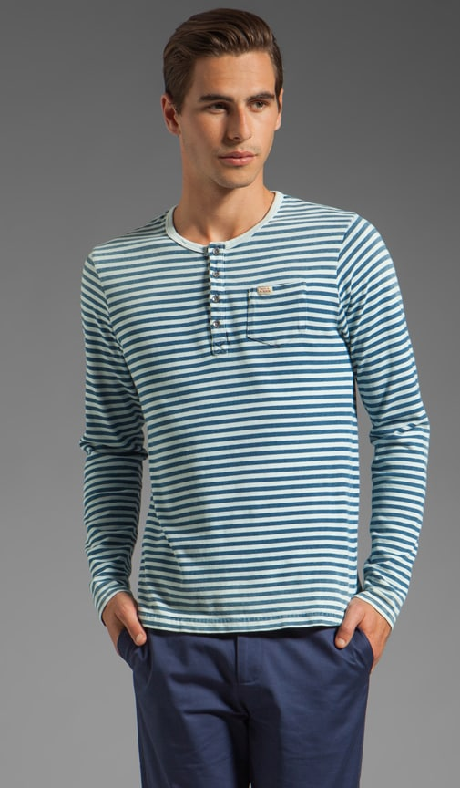 Stripe Long Sleeve Henley