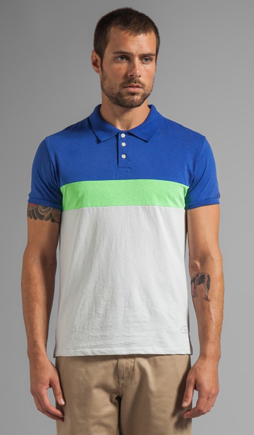Colorblock Jersey Polo