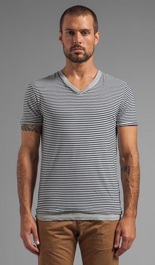 Basic Double Layer V-Neck