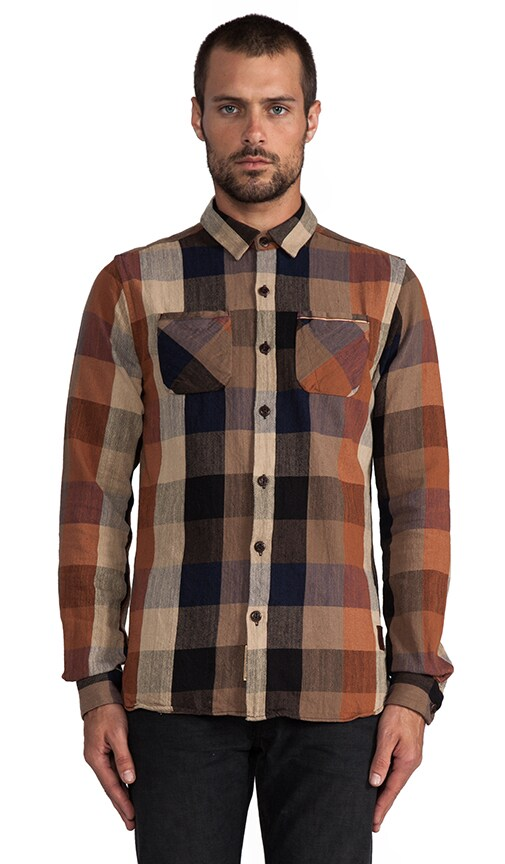 Flannel Block Check Shirt