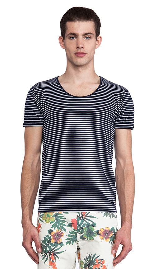Basic Crewneck Striped Tee