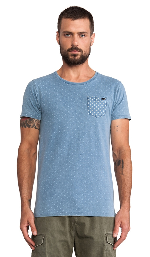Amsterdams Blauw Dandy Indigo Allover Tee
