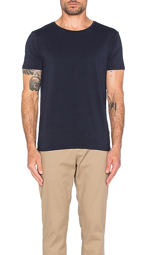 Scotch & Soda Classic Crewneck Tee in Navy