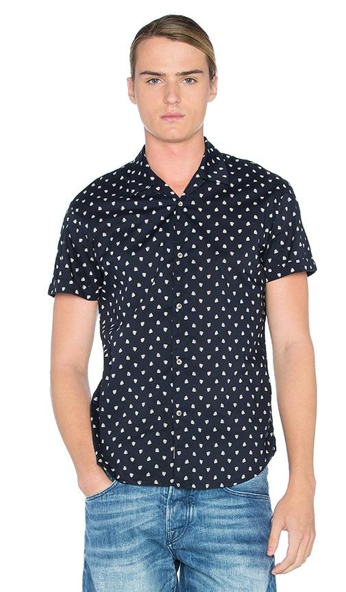 Scotch & Soda All Over Printed Shirt in Navy