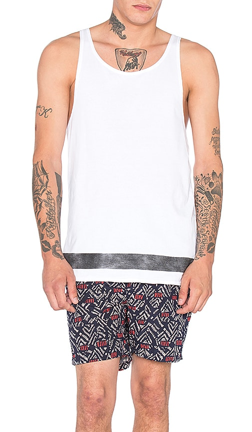 Scotch & Soda Retro Surf Tank in White