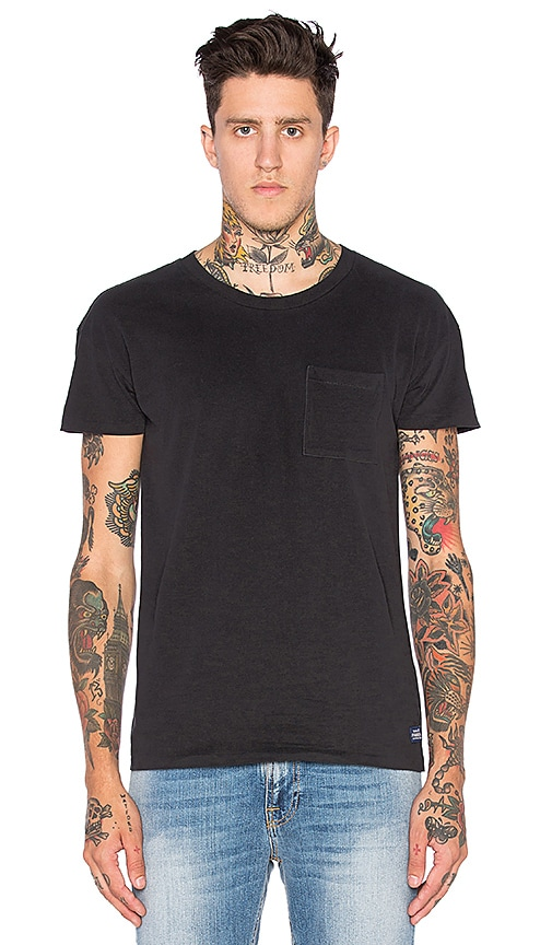 Scotch & Soda Rocker Tee in Black