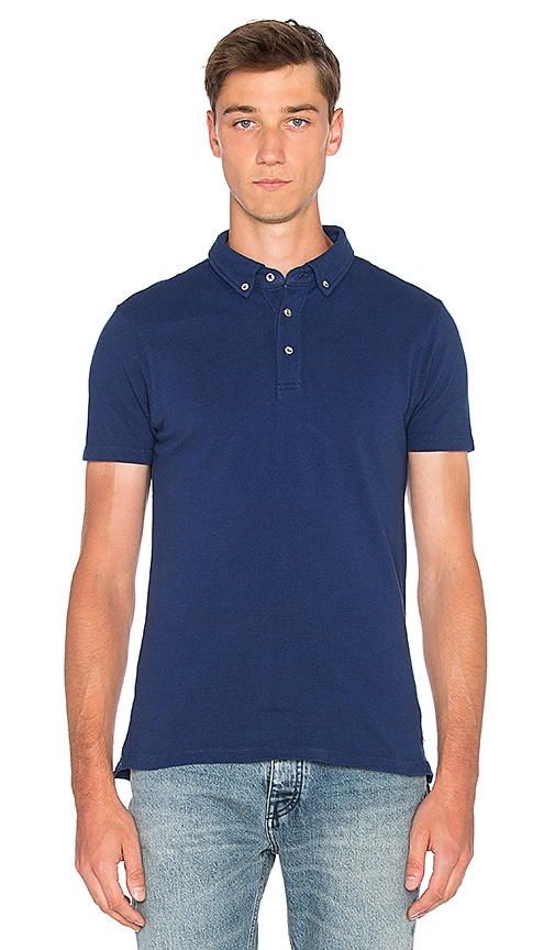 Scotch & Soda Dress Polo in Navy