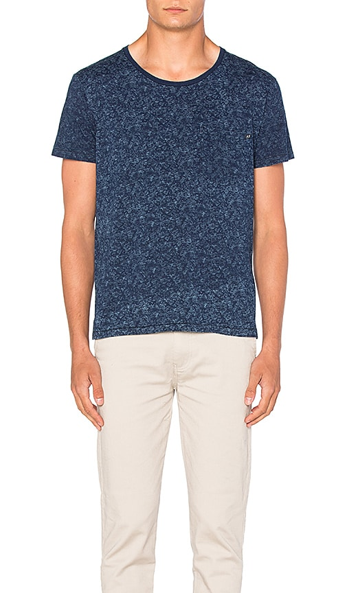 Scotch & Soda Indigo Print Tee in Blue