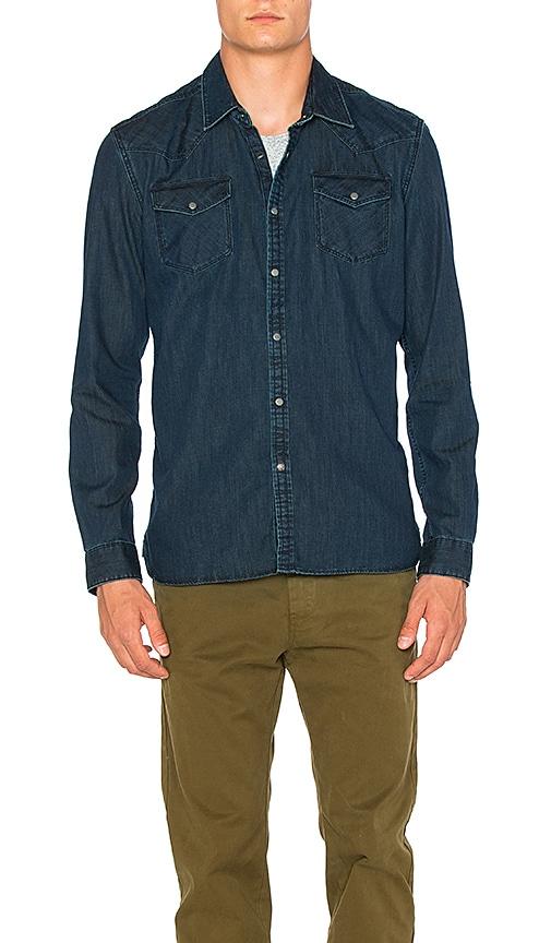 Scotch & Soda Denim Western Shirt in Indigo