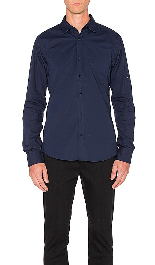 Scotch & Soda Long Sleeve Shirt in Navy