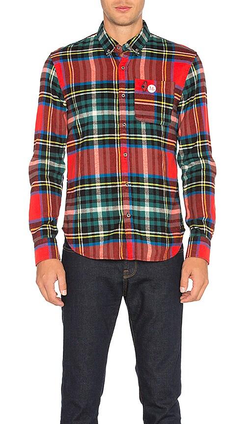 Scotch & Soda Long Sleeve Shirt in Red
