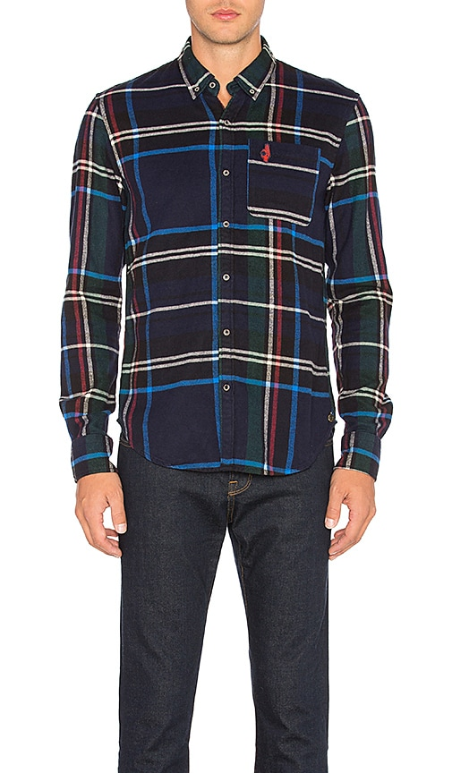 Scotch & Soda Long Sleeve Shirt in Blue