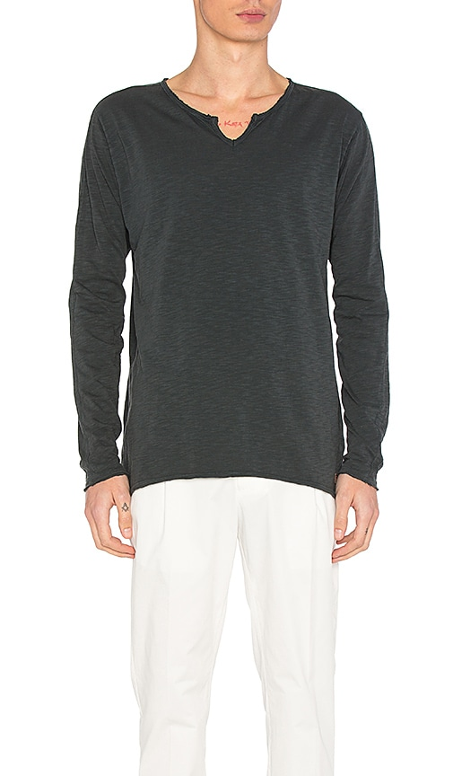 Scotch & Soda Long Sleeve Tee in Charcoal