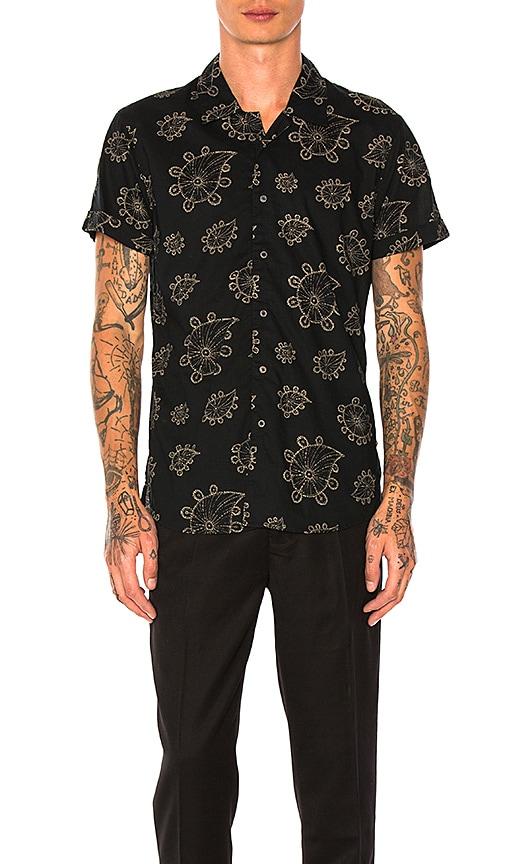 Scotch & Soda Hawaiian Shirt in Black