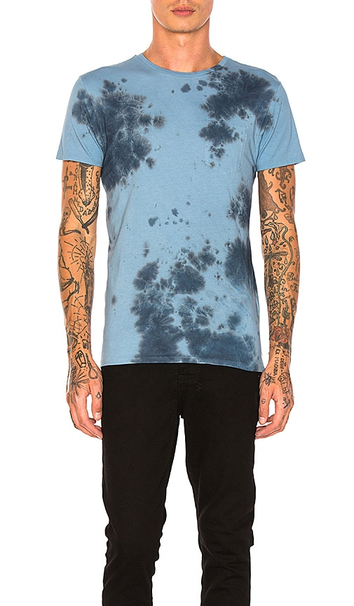 Scotch & Soda Tie Dyed Tee in Blue