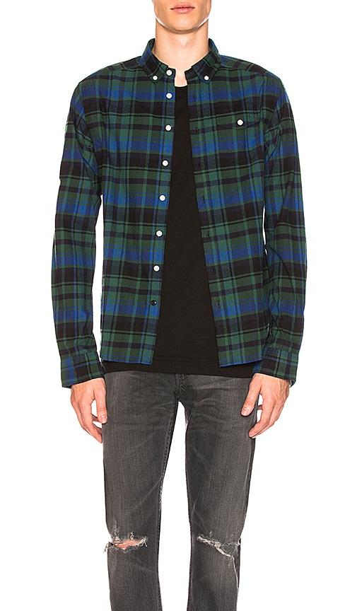 Scotch & Soda Flannel Shirt in Blue