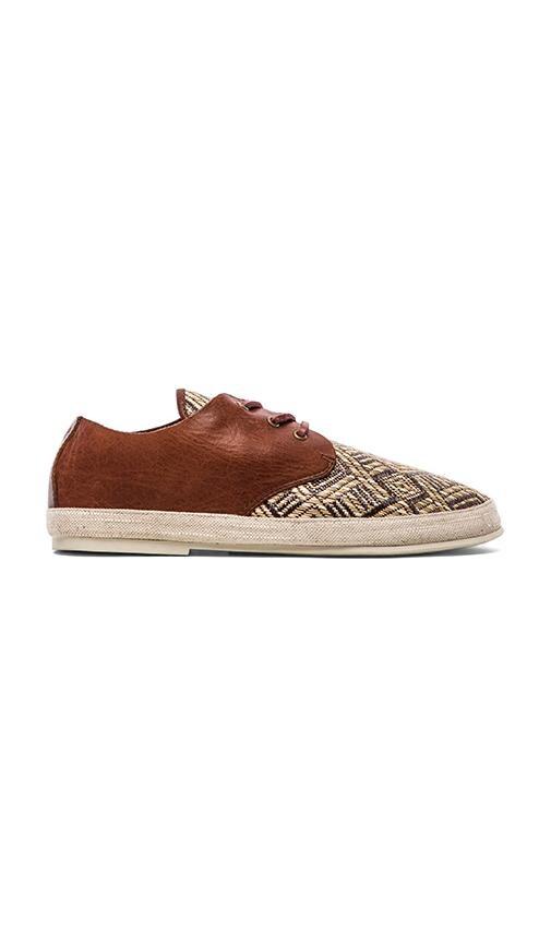 Straw Shoe w/ Leather