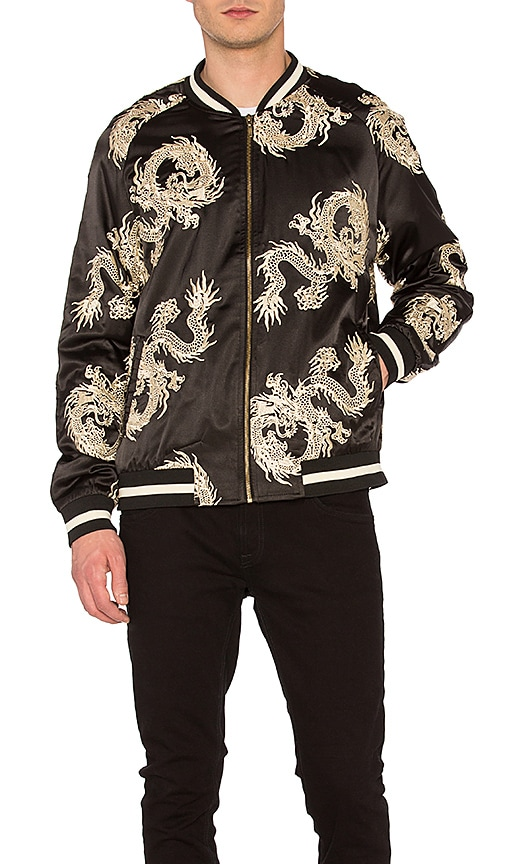 Standard Issue Dragon Bomber Jacket in Black