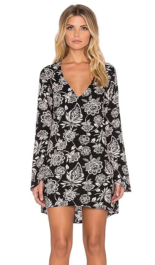 STELA 9 Baso Alto Mini Dress in Black