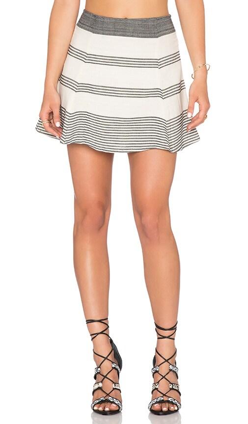 STELA 9 Pina Circle Skirt in Cream Stripe