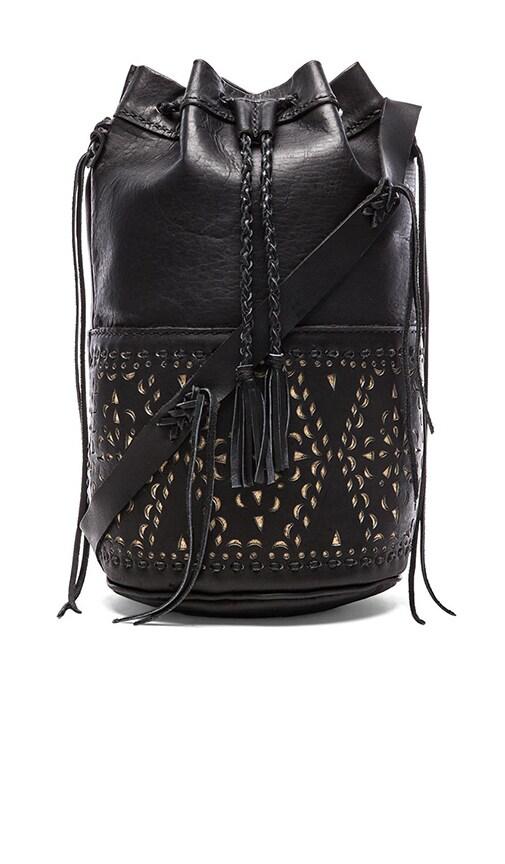 STELA 9 Quixote Large Bucket Bag in Black