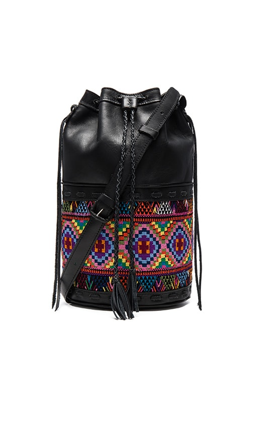 STELA 9 Large Vintage Quixote Bucket Bag in Black