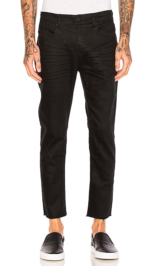 Stampd Resin Slim Fit Cropped Jeans in Black