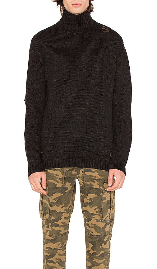 Stampd Port Sweater in Black