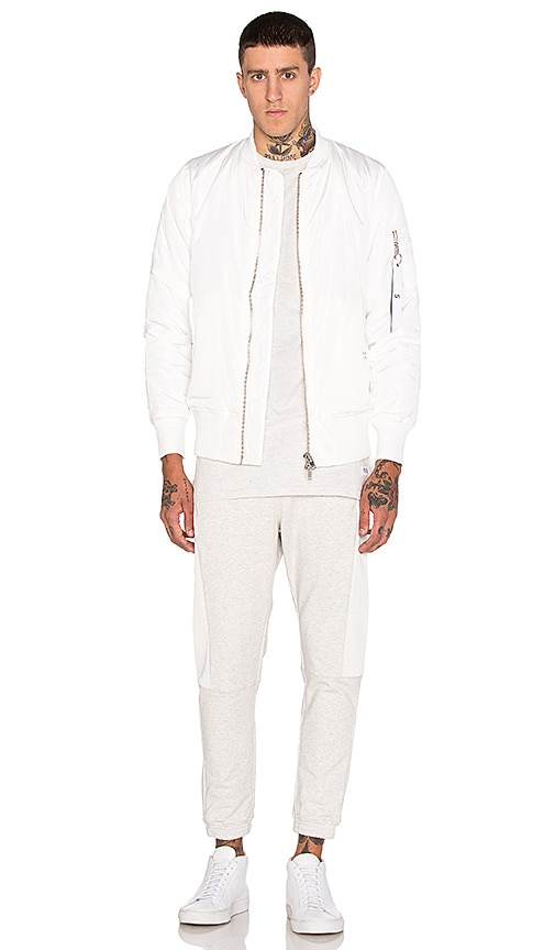 Stampd Strapped Bomber Jacket in White