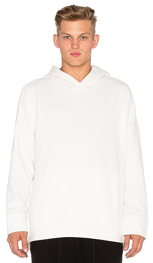 Stampd Draped Hoodie in White