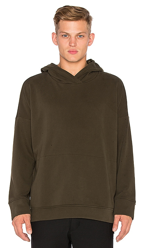 Stampd Draped Hoodie in Green