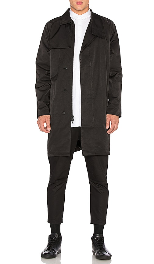 Stampd Parachute Trench in Black