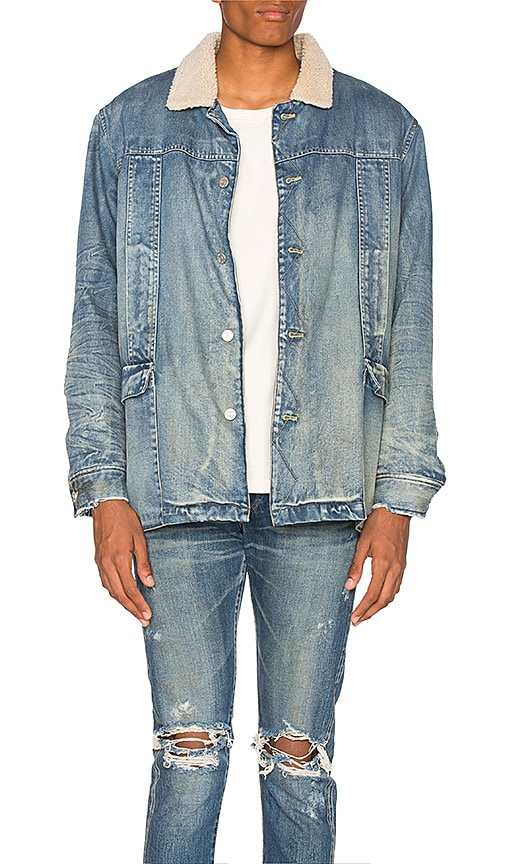 Stampd Denim Jacket in Washed Indigo