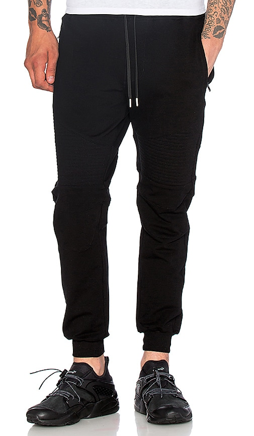 Stampd Essential Moto Warm Up Pant in Black