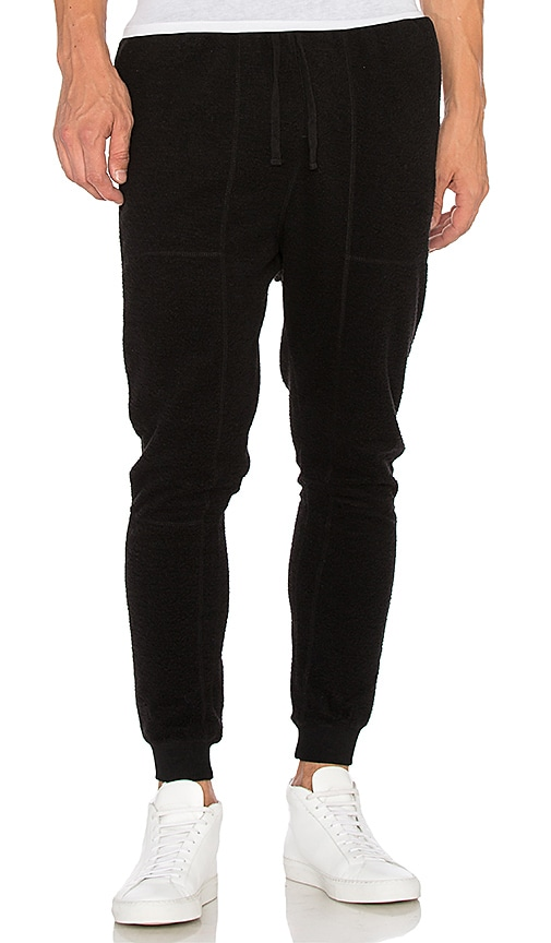 Stampd Reverse Terry Pant in Black
