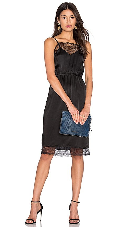Steele Cassius Slip Dress in Black