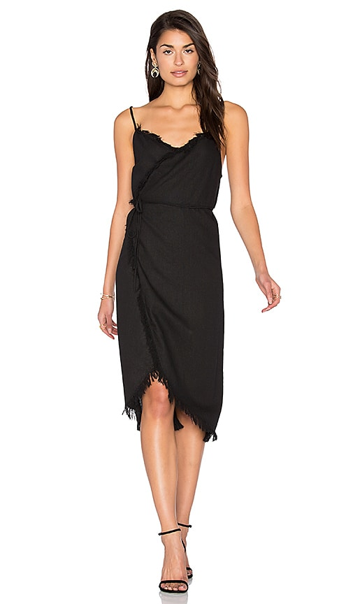 Steele Farra Wrap Dress in Black