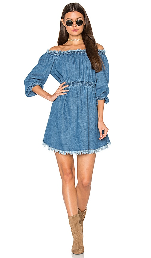 Steele Harley Dress in Blue Denim