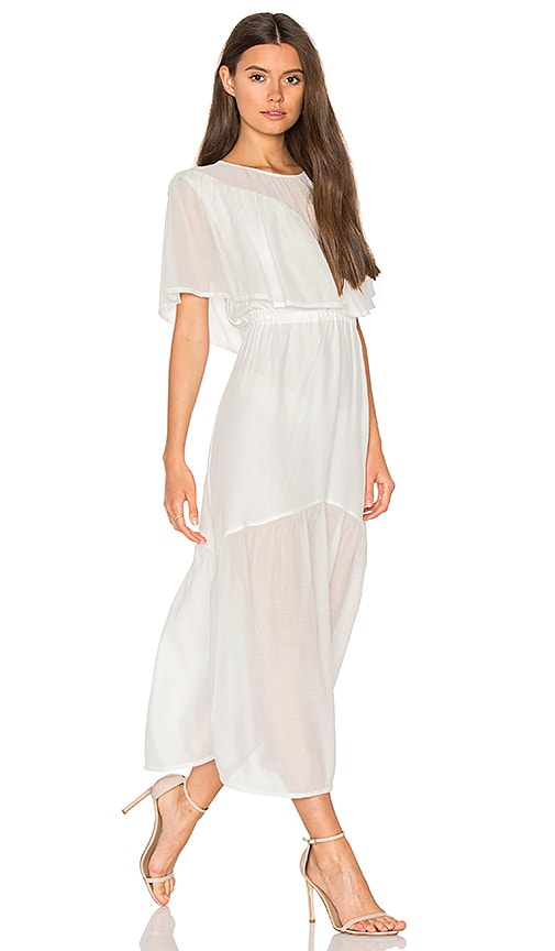 Steele Shaee Cape Maxi Dress in White